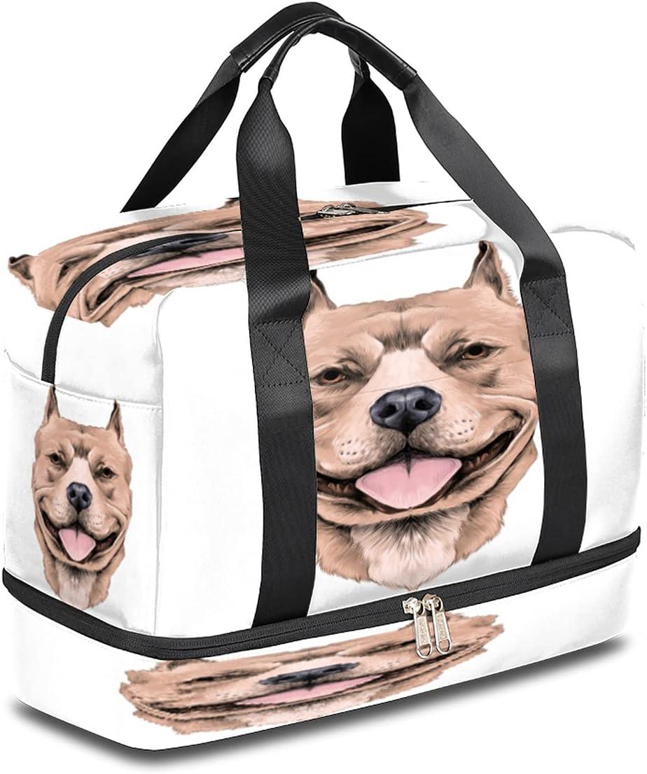 Max 82% OFF Sports Gym Bag Animal Dog Travel New life Duffel Theme Ov Lightweight