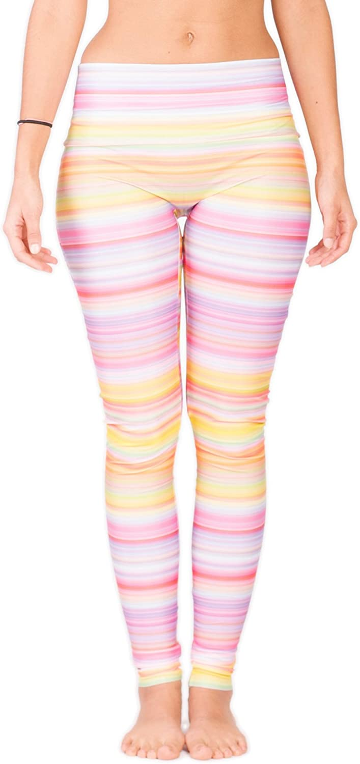 Limber Stretch High Performance Illusion Yoga Leggings. Figure Flattering Design Perfect for Every Woman