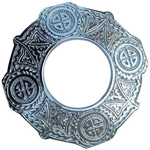 Schottisch Kilt Fly Plaid Brosche Keltischer Knoten Antik Verchromt 3.5