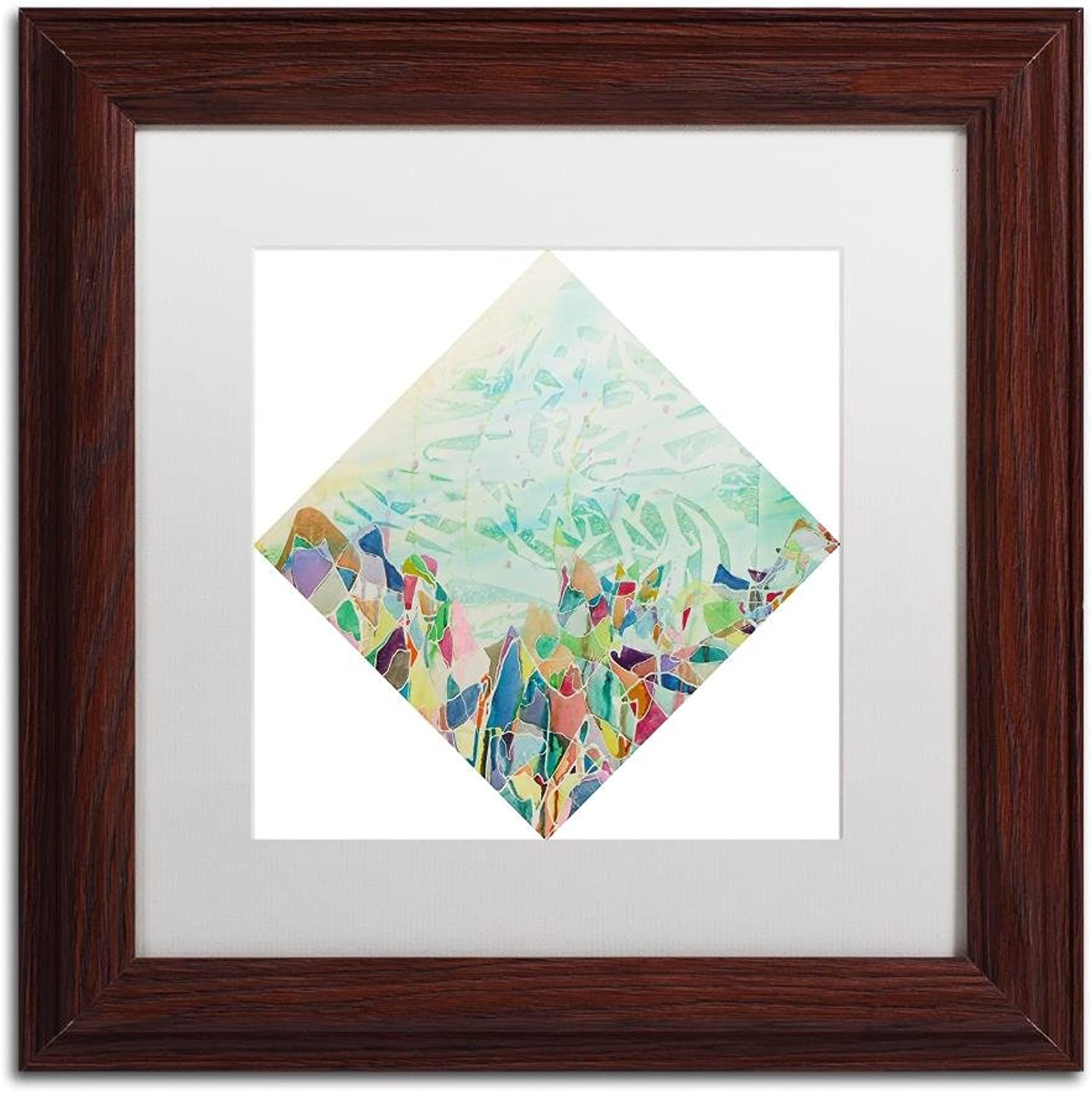 Trademark Fine Art Xuelian Feng by Lauren Moss, White Matte, Wood Frame 11x11
