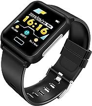 ODLICNO Smartwatch con Pulsómetro,1.3inch Pantalla Grande Fitness Tracker Impermeable IP67 Reloj Inteligente con Cronómetro, Monitor de sueño,Podómetro,Calendario,Control Remoto de Cámara, Pulsera Actividad para Android y iOS