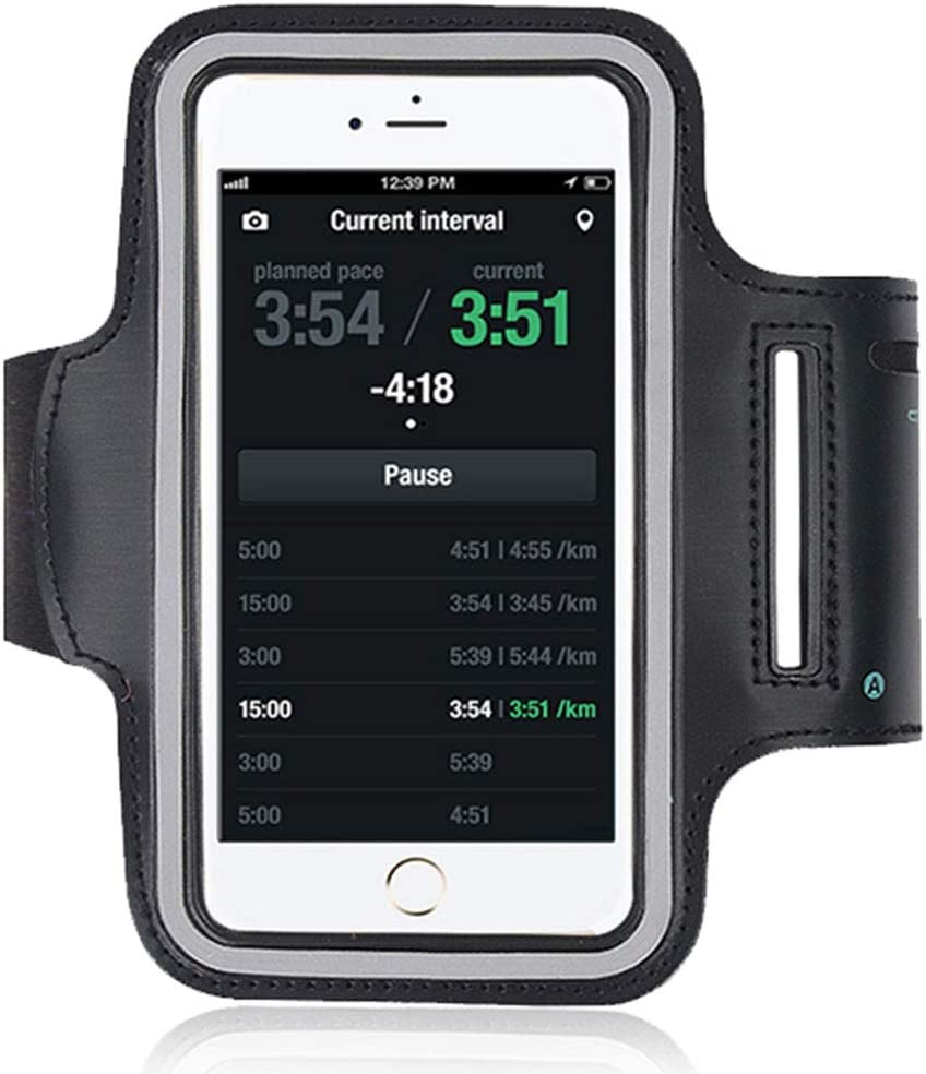 Amoos Water Resistant Cell Phone Armband Case for iPhone 6, 6s, 7, 8, SE, OR The Size Within 4.0
