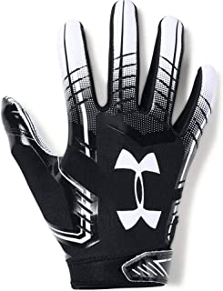 Under Armour UA F6 Glue Grab Advanced Skill Heat Gear Max Flex Football Receiver Gloves (Black/White) Youth Small