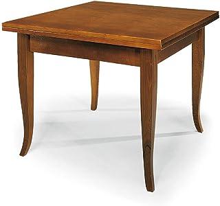 Liberoshopping Table à livre extensible classique en finition noyer dimensions au choix (100 x 100)
