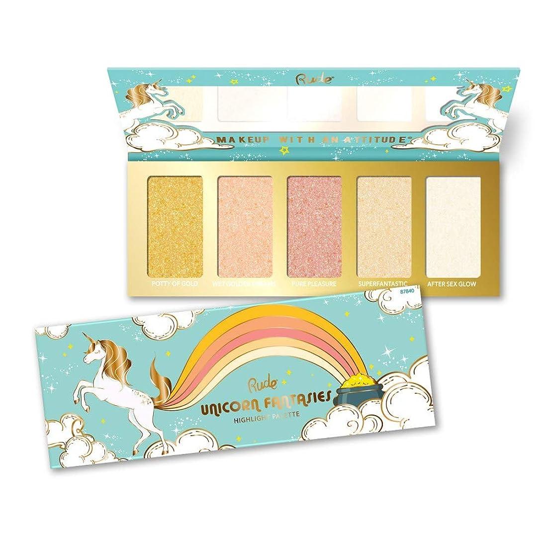 スリル南ウール(6 Pack) RUDE Unicorn Fantasies - Highlight Palette (並行輸入品)