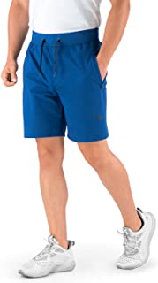 Hydrafit Men's Athletic Shorts, Gym Shorts for Men, Mens Shorts Workout Running with Zipper Pockets