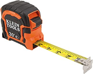 Tape Measure, 30-Foot Double Hook Magnetic with Finger Brake, Easy to Read Bold Lines Klein Tools 86230