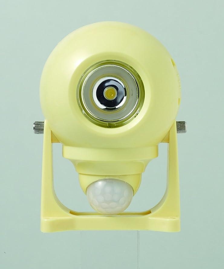 評決啓発する取得するホーム乾電池式センサーライトLED1W(黄)