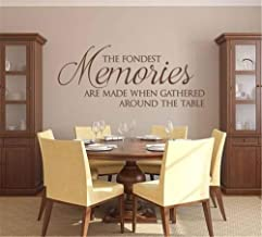 Vinyl Wall Sticker Mural Bible Letter Quotes The Fondest Memories are Made When Gathered Around The Table