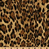 Windham Fabrics Call of the Wild Jaguar Brown Fabric By The Yard
