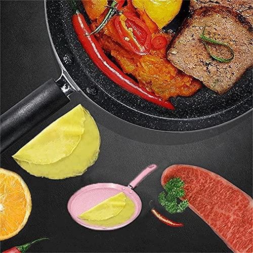 Sartén antiadherente de aleación de aluminio Pan de panqueque de huevo de carne de pan para pizza, cacerolas de panckae utensilios de cocina (Color: S)