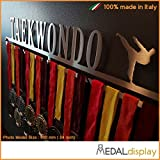Medaldisplay - Porta medallas/medallero de pared Taekwondo, 750mm x 115mm x 3mm