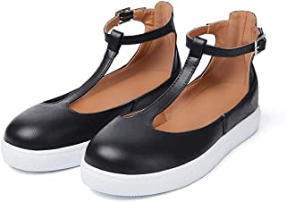 MORNISN Womens Mary Jane Flats Shoes Casual Sandals Vintage Buckle T Strap Sneakers Slip On Loafers