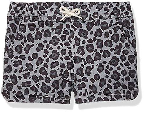 Amazon Brand - Spotted Zebra Kids Girls Pull-On Shorts, Grey Cheetah, Small