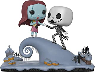Funko Pop Movie Moment: Nightmare Before Christmas - Figura coleccionable de Jack y Sally en la colina, multicolor
