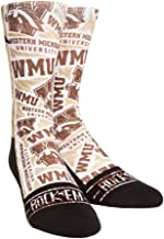 Rock 'Em Apparel Western Michigan Broncos Custom Athletic Crew Socks