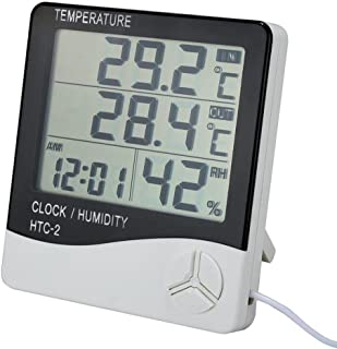 oldeagle Freezer Thermometer, LCD Outdoor Indoor HTC-2 HTC-1 Thermometer Hygrometer Temperature Humidity Meter