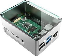 anidees Aluminum Extra High Pi case for Raspberry Pi 4 Model B - Silver(AI-PI4-SG-H)