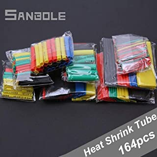 164PCS/Set Heat Shrink Tube Polyolefin Shrinking Assorted Wire Electrical Cable Insulated Sleeving Tubing Set
