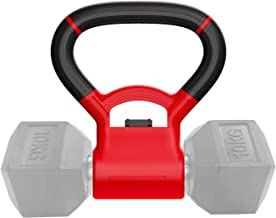 JUST4U Kettlebell Adjustable Portable Weight Grip - Turn Your Dumbbells into Kettlebells