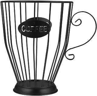 Baoblaze Stockage de Dosette de Café En Fer, Panier de Support de de Café de Grande Capacité, Organisateur de de Café et d...