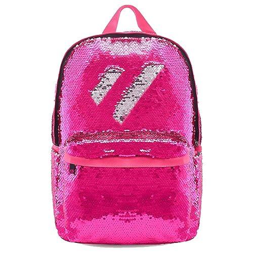 5520e02da7 Flip Glitter Mermaid School Bag Magic Reversible Sequin Backpack for Girls