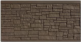SimTek 4 ft. H x 8 ft. W EcoStone Dark Brown Composite Fence Panel