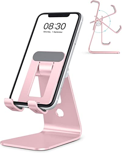 OMOTON C3 Cell Phone Stand for Desk, Larger and Exceptionally Stable, Adjustable Phone Cradle Holder with Bigger Body...