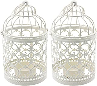 Ciaoed Small Metal Tealight Hanging Birdcage Lantern, Vintage Decorative Centerpieces of..