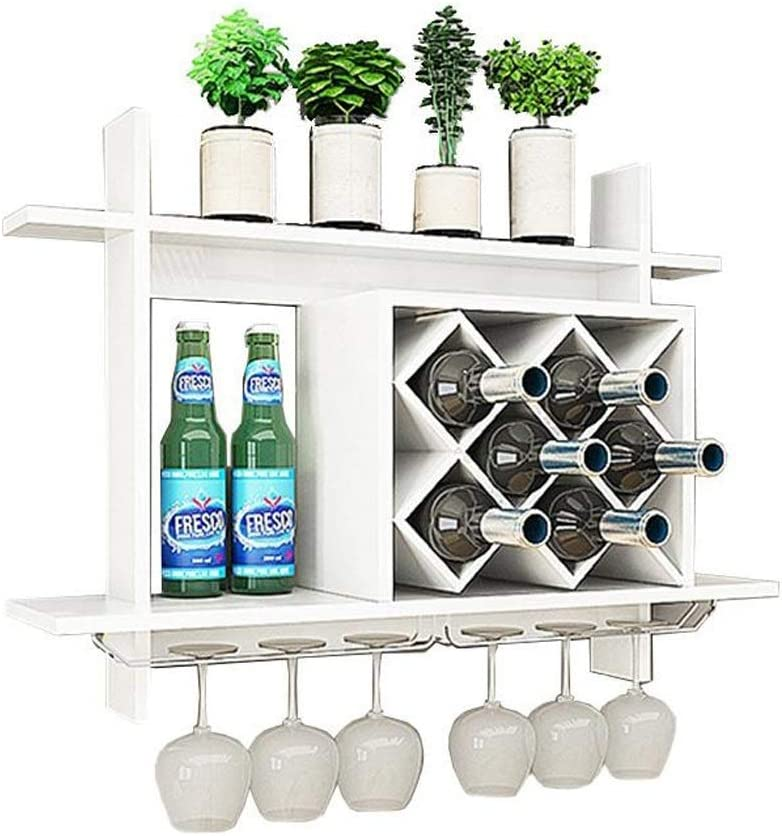 Wine OFFicial shop Champagne Storage Rack Wall Wood Cabi MDF Max 56% OFF mounted