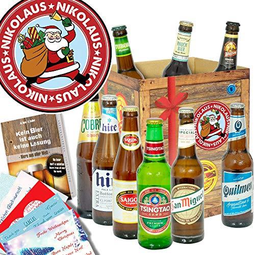 Nikolaus/Bierpaket mit Bieren der Welt