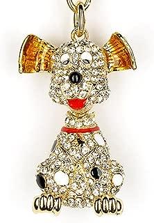 Lilly Rocket Bling Rhinestone Sitting Puppy Dog Retriever Labrador Key Chain Keyring with Swarovski Crystals