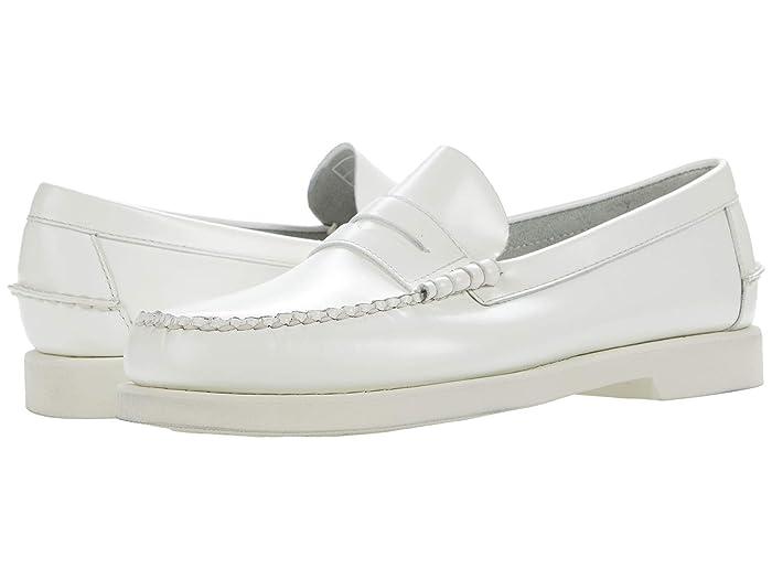 Mens Vintage Shoes, Boots | Retro Shoes & Boots Sebago Dan Polaris RGB Full White Mens Shoes $160.00 AT vintagedancer.com