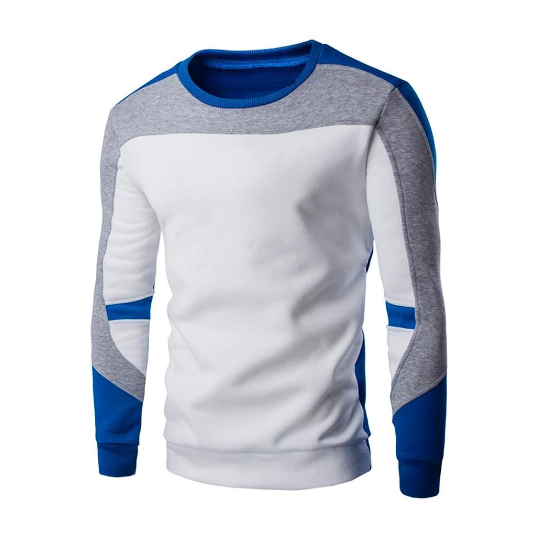 IEasonメンズトップス、2017年 メンズ 長袖 パッチワーク パーカー スウェットシャツ トップス ジャケット コート アウター US サイズ: Medium カラー: ブラック