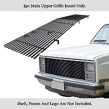 APS Compatible with 1981-1987 Chevy GMC Pickup Suburban Blazer Jimmy Phantom Main Upper Stainless Steel Black 8x6 Horizontal Billet Grille Insert C85202J