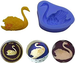 Ouniman 3D Swan Shape Fondant Silicone Molds Candy Mold and Silicone Ice Cube Tray Nonstick Silicone Mold Chocolate Fondant Cake Decorating Molds Baking Mould for Decorating Cakes, Chocolate, Candy