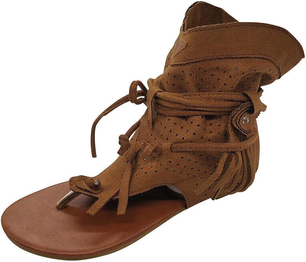 Sandals for Women,Tassel Sandals for Women,Bohemian Gladiator Be