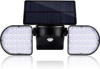Solar Lights Outdoor Motion Sensor, Geeetech 56 LEDs Solar Motion Sensor Lights with Wide Angle Illumination, Adjustable Solar Panel and 2 Adjustable Heads, IP65 Waterproof Outdoor Security Lighting