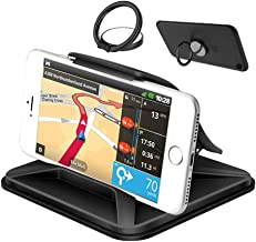 Cell Phone Holder for Car, YuCool Non-Slip Pad Dashboard Cradle, Car Phone Mounts for All 3-7inch Smartphones or GPS Devices-Black