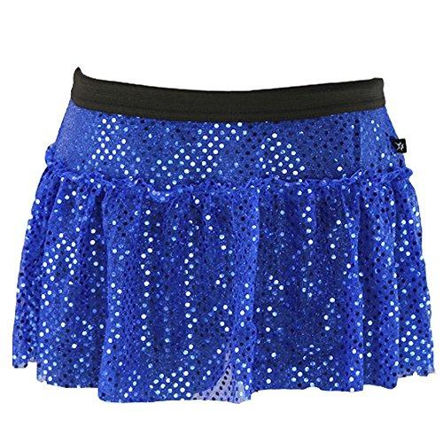 Royal Blue Sparkle Running Skirt S