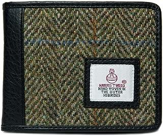 Authentic Harris Tweed Gent/'s Classic Wallet Black//Grey Check LB2007 COL48