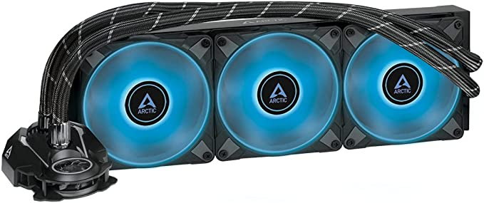 ARCTIC Liquid Freezer II 360 RGB - Multi-Compatible All-in-one CPU AIO Water Cooler with RGB, Compatible with Intel & AMD, efficient PWM-Controlled Pump, Fan Speed: 200-1800 RPM - Black