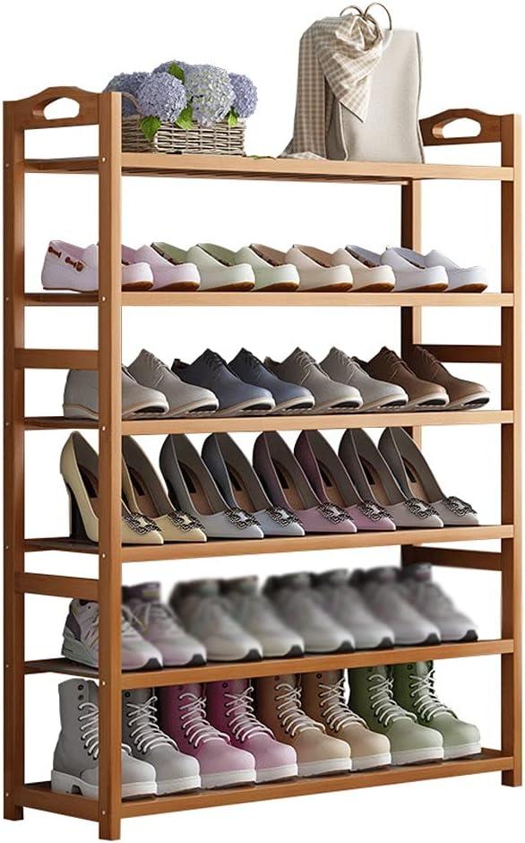 Bombing free shipping Max 67% OFF YHshop Free Standing Shoe Racks 6-Layer Bamboo Floor S Rack