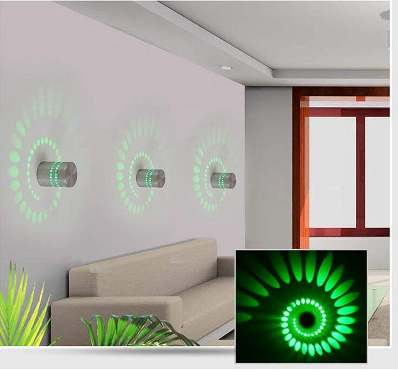 Creative Living Room Corridor Aluminium Wandleuchte mit bunter LED Dekoration Wandleuchte
