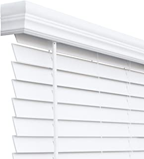 CHICOLOGY Cordless Faux Wood Blinds 2 inch Slats, 44