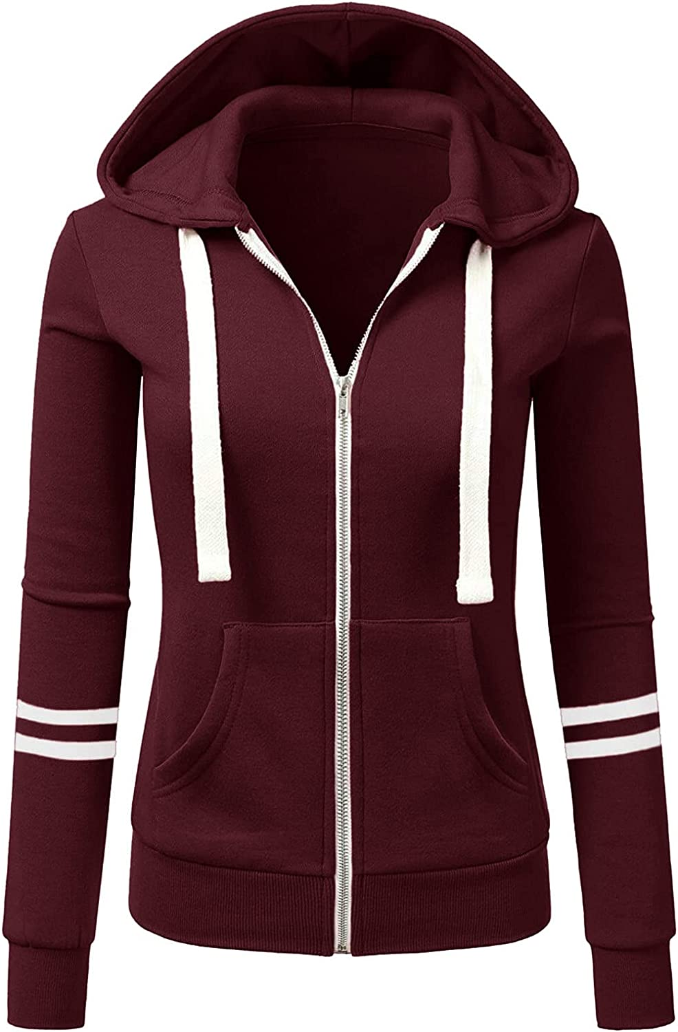 Autumn and Winter Women's Quantity limited Popular popular Sweater Hoodies Jac Solid Sports Color