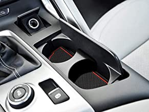 Auovo Anti dust Mats for Chevrolet Chevy Corvette C7 2014-2019 Interior Accessories Custom Fit Door Pocket Liners Cup Holder Pads Console Mats(6pcs/Set) (red)