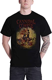 Cannibal Corpse T Shirt Chainsaw Band Logo Official Mens Black