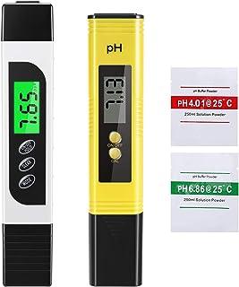 EXTSUD Medidor de pH Agua, 4 en 1 Medidor pH Digital Medidor de TDS para Acuarios, Piscinas, Agua Potable, Alta Precisión y Auto Calibración