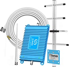 Home Cell Phone Signal Booster for AT&T T-Mobile 4G LTE 700MHz Band 12/17 FDD Mobile Signal Repeater Amplifier Antenna Kits Fater 4G LTE and Supports Volte